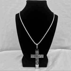 Other - High Polish Stainless Steel Triple Layered Cross